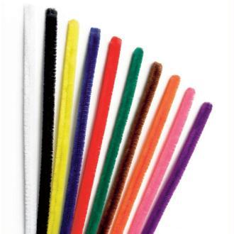 Assortiment fil chenille Multicolore 50 cm - Lot de 10