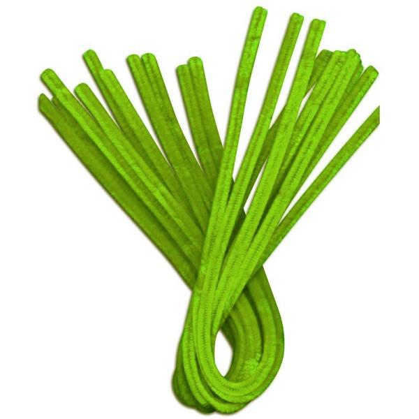Fil chenille Vert prairie 50 cm - Lot de 10 - Photo n°1