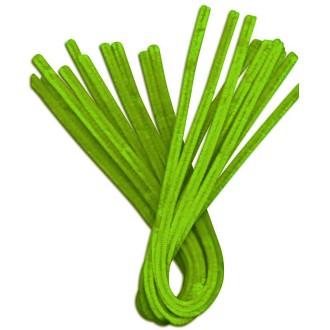 Fil chenille Vert prairie 50 cm - Lot de 10