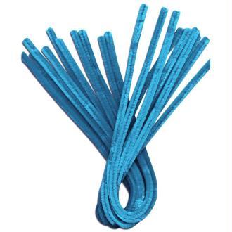 Fil chenille Bleu clair 50 cm - Lot de 10