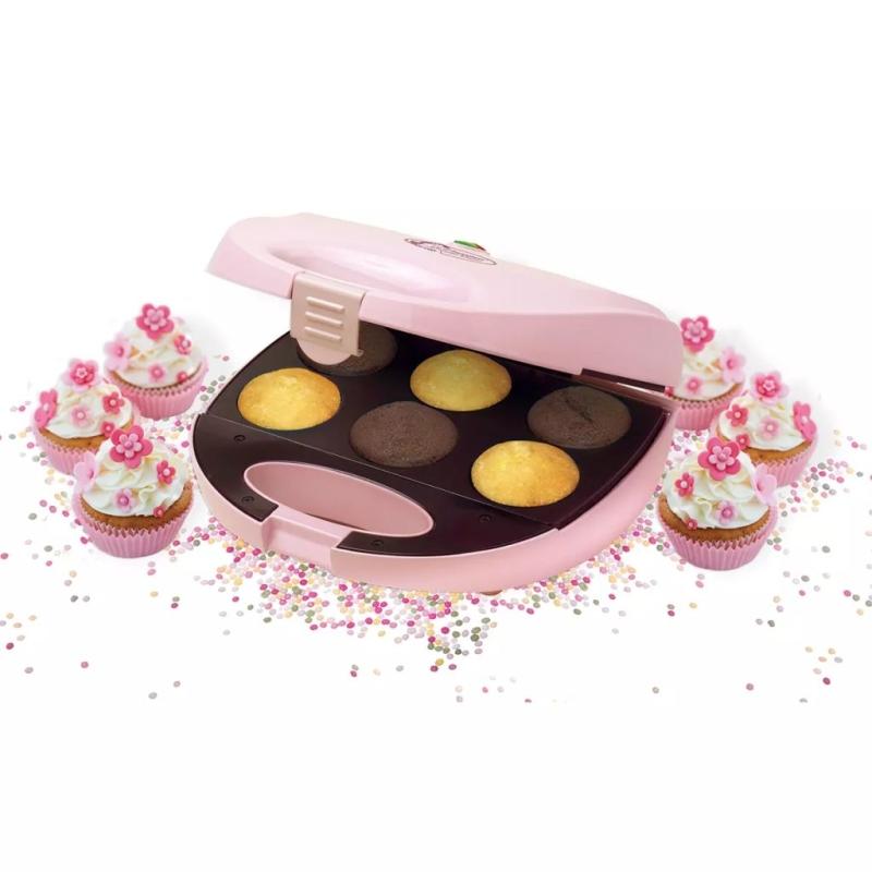 Appareil cupcakes rose 750 w bestron dcm8162 petit for Appareils de cuisine