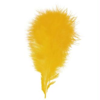 Plumes marabout Jaune or - 15 pièces