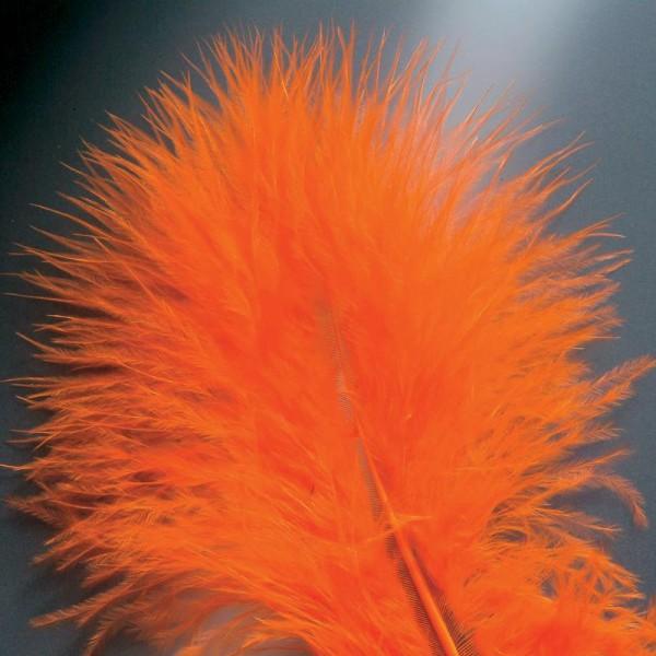 Plumes marabout Orange - 15 pièces - Photo n°2
