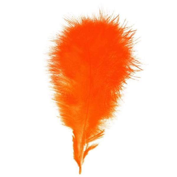 Plumes marabout Orange - 15 pièces - Photo n°1