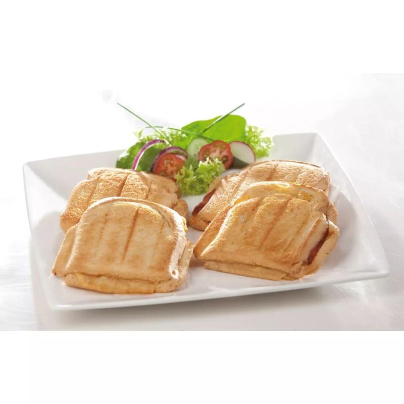 Domo appareil croque monsieur 1200 w blanc do9046c for Appareil vapeur cuisine