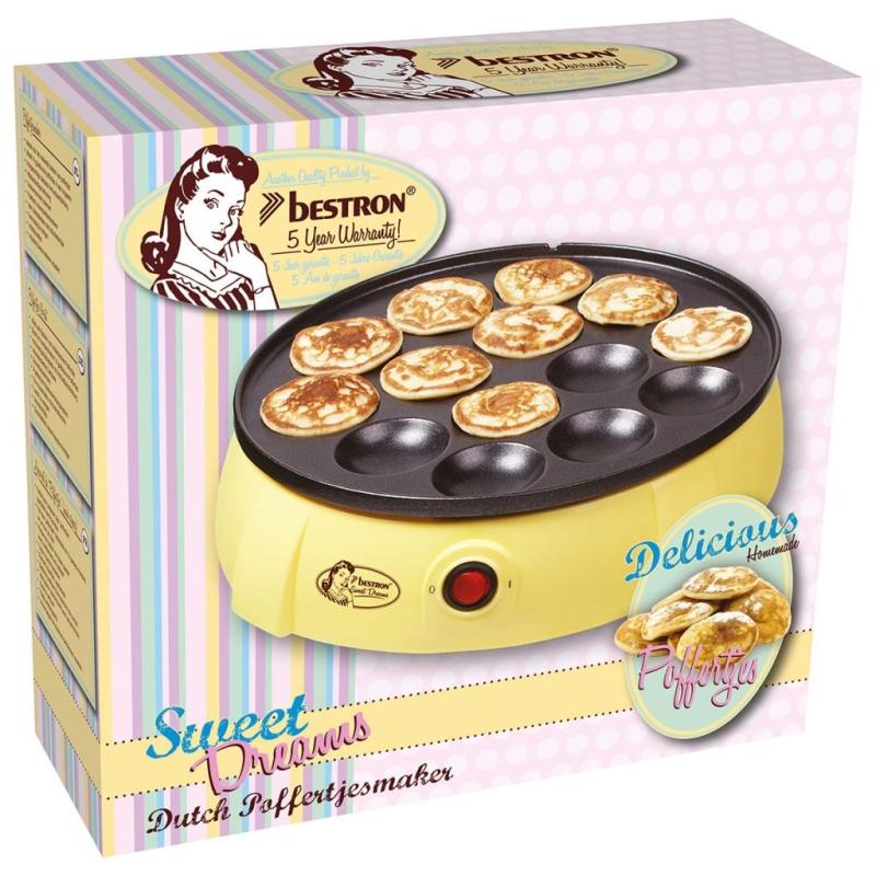 Bestron appareil mini cr pes hollandaises vanille 650 w for Appareil de cuisine qui fait tout