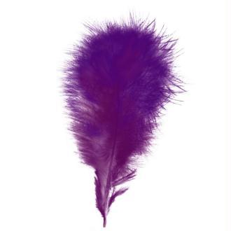 Plumes marabout Violet - 15 pièces
