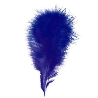 Plumes marabout Bleue - 15 pièces