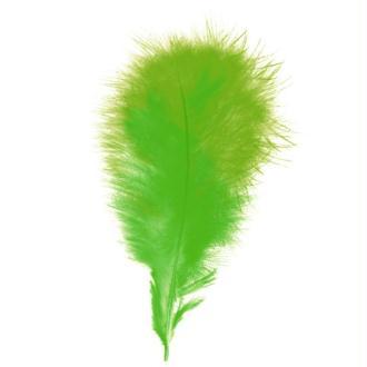 Plumes marabout Vert clair - 15 pièces