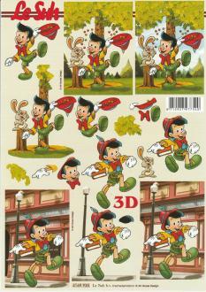 Feuille 3D à découper A4 Pinocchio