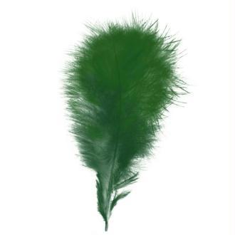 Plumes marabout Vert foncé - 15 pièces