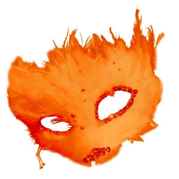 Plumes déco Orange - 15 pièces - Photo n°2