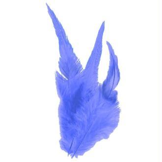 Plumes déco Bleu - 15 pièces