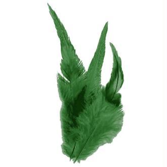Plumes déco Vert foncé - 15 pièces