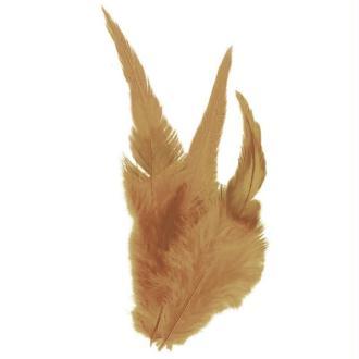 Plumes déco Brun naturel - 15 pièces