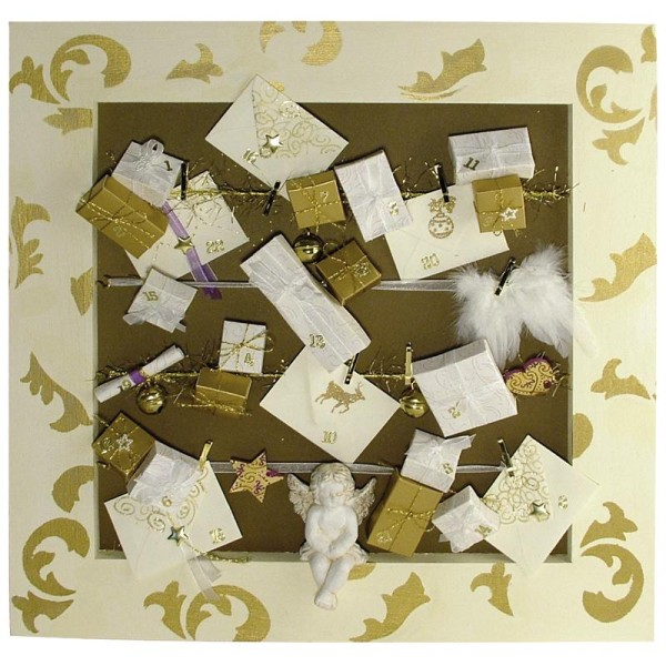 Ailes d'ange en plumes 20cm à suspendre blanches - Photo n°2