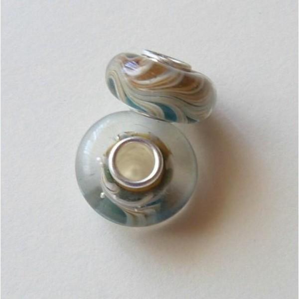 1 perle lampwork verre charm verre de Murano 14 mm CHAMARE - Photo n°1
