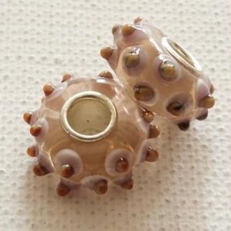 1 perle lampwork verre charm verre de Murano 14 mm DECORATION