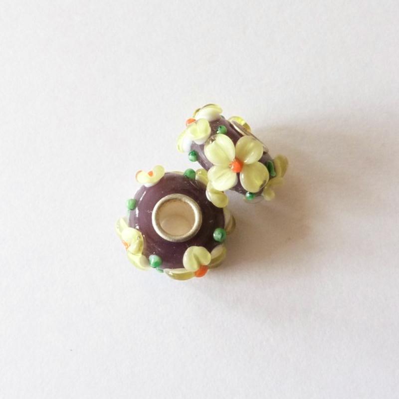 1 perle lampwork verre charm verre de murano 14 mm fleur for Arte cuisine des terroirs