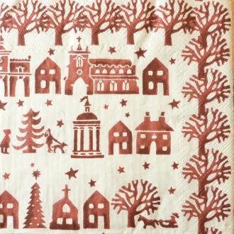 4 serviettes en papier découpage collage 33 cm NOEL 303