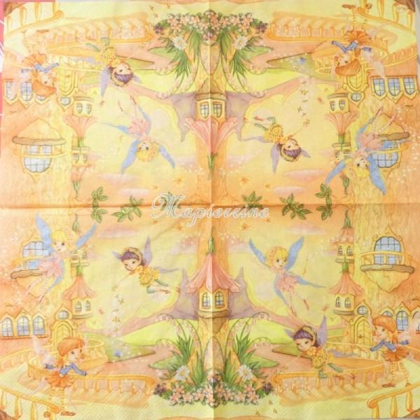 4 serviettes en papier découpage collage 33 cm ELEMENTS SCRAPBOOKING D113 - Photo n°2