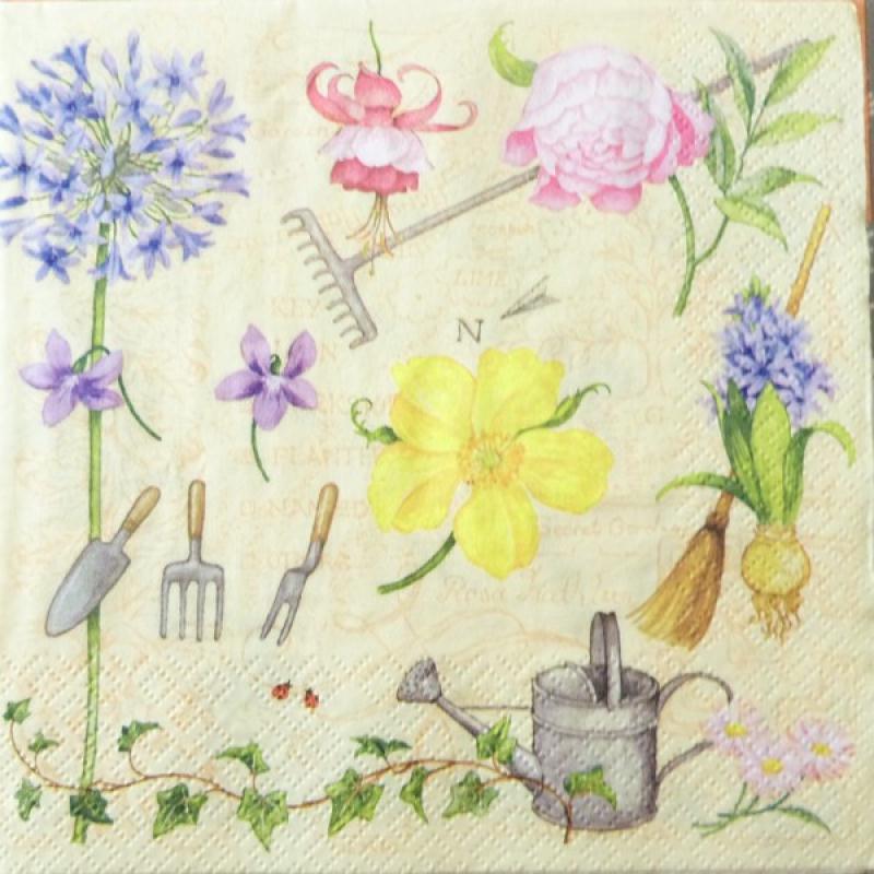 4 serviettes en papier d coupage collage 33 cm nature fleur jardin 3 serviette en papier. Black Bedroom Furniture Sets. Home Design Ideas