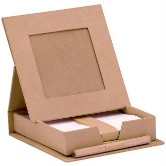 Boîte à mémos en carton à décorer 11,5 cm