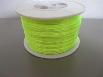 Lot de 5 m de fil nylon 1,2 mm jaune fluo