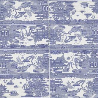 4 Serviettes en papier Asie Porcelaine de Chine Format Lunch