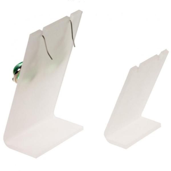 Porte bijoux mini support boucle d'oreille petit panneau (1 paire) h 7 cm Translucide - Photo n°2