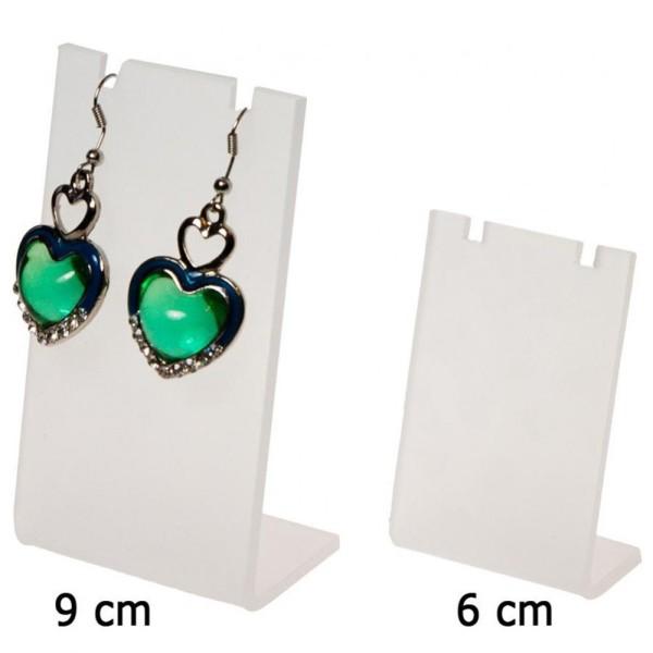 Porte bijoux mini support boucle d'oreille petit panneau (1 paire) h 7 cm Translucide - Photo n°1