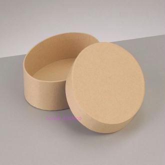 Boite Ovale Haute Dimension 12,5x8,5cm x Haut. 7cm avec couvercle en carton, à décorer