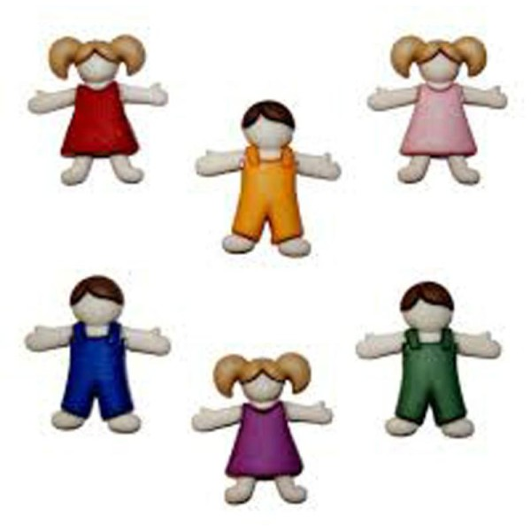 Boutons Dress It Up - Kids : Enfants - Fille et Garçon - Photo n°1
