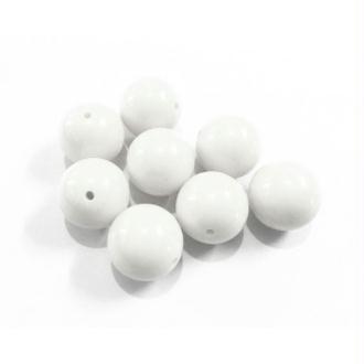 10x perles plastique Rondes 10mm BLANC