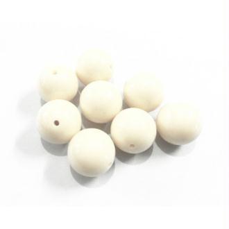 10x perles plastique Rondes 10mm BLANC CASSE