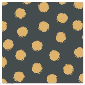 Serviette en papier - Pois dorés sur fond noir - 20 pcs