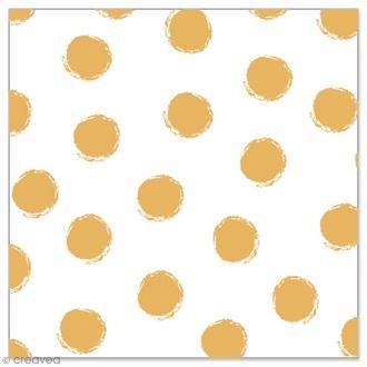 Serviette en papier - Pois dorés sur fond blanc - 20 pcs
