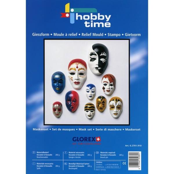 Moule relief Masque x10 - Photo n°1