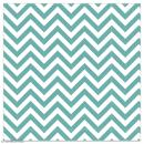 Serviette en papier - Chevrons bleu turquoise sur fond blanc - 20 pcs - Photo n°1