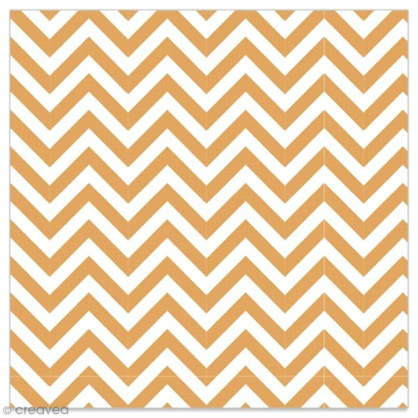 Serviette en papier - Chevrons dorés sur fond blanc - 20 pcs - Photo n°1