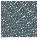 Serviette en papier - Petites étoiles blanches et dorées sur fond gris anthracite - 20 pcs - Photo n°1