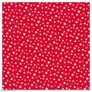 Serviette en papier - Petites étoiles blanches et dorées sur fond rouge - 20 pcs