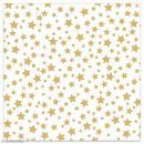 Serviette en papier - Etoiles dorées sur fond blanc - 20 pcs