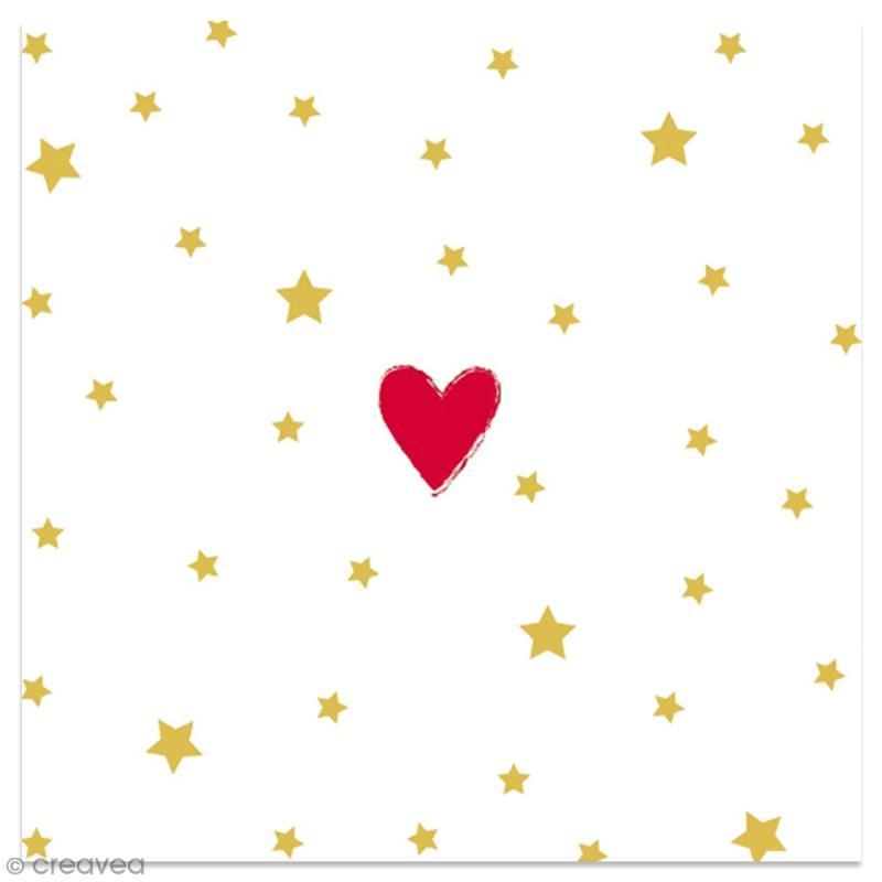 serviette en papier coeur rouge et toiles dor es sur fond blanc 20 pcs serviette en. Black Bedroom Furniture Sets. Home Design Ideas