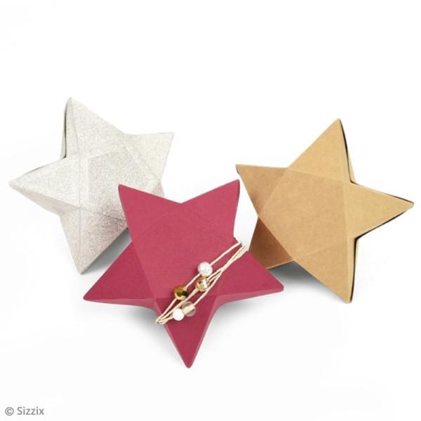 Matrice Sizzix Thinlits Plus - Boîte 3D étoile - 1 pce - Photo n°2
