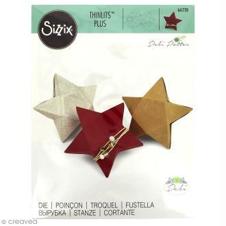 Matrice Sizzix Thinlits Plus - Boîte 3D étoile - 1 pce