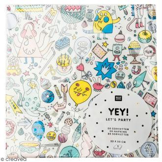 Serviettes en papier - Monster Party - 20 pcs