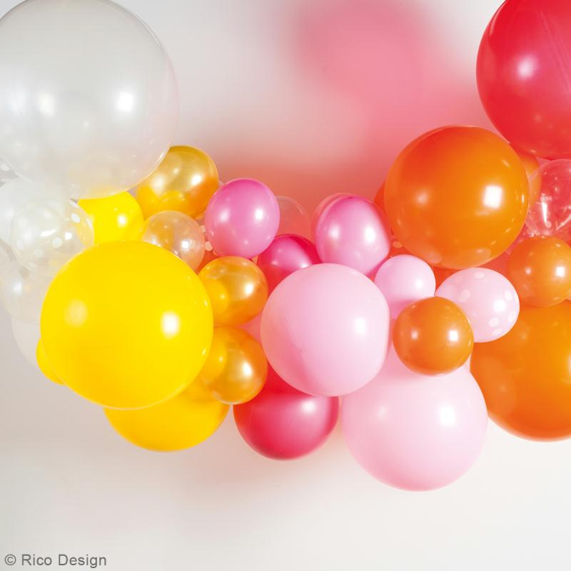 Maxi Ballons de baudruche Rico Design YEY - Rose clair et rose fuchsia - 90 cm - 2 pcs - Photo n°3