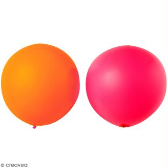 Maxi Ballons de baudruche Rico Design YEY - Rouge et orange - 90 cm - 2 pcs