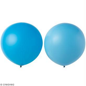 Maxi Ballons de baudruche Rico Design YEY - Bleu clair et bleu - 90 cm - 2 pcs